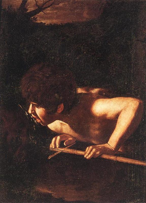 Caravage, Saint Jean-Baptiste à la fontaine - 1608