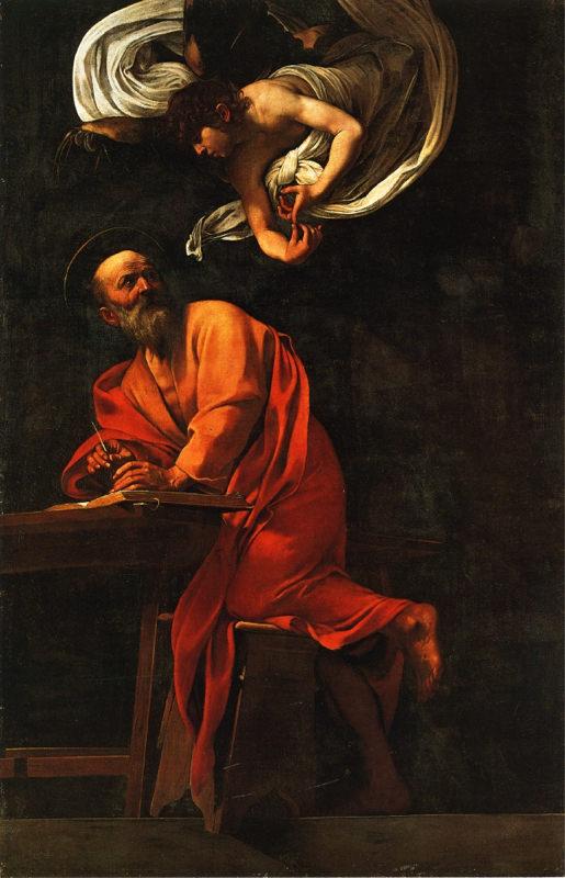 Caravage, Saint Matthieu et l'Ange - 1602