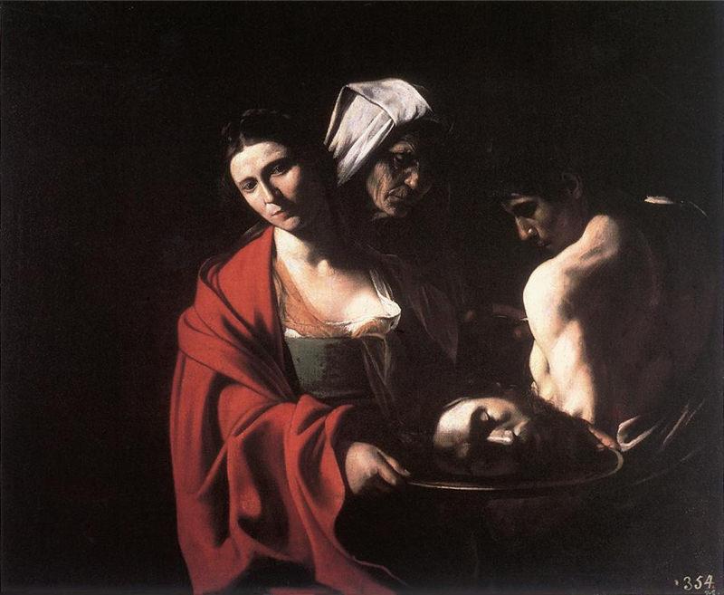 Caravage, Salomé avec la tête de saint Jean-Baptiste - 1609