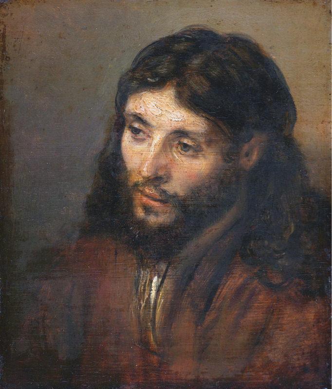 Tableau Reproduction De Rembrandt Tete Du Christ