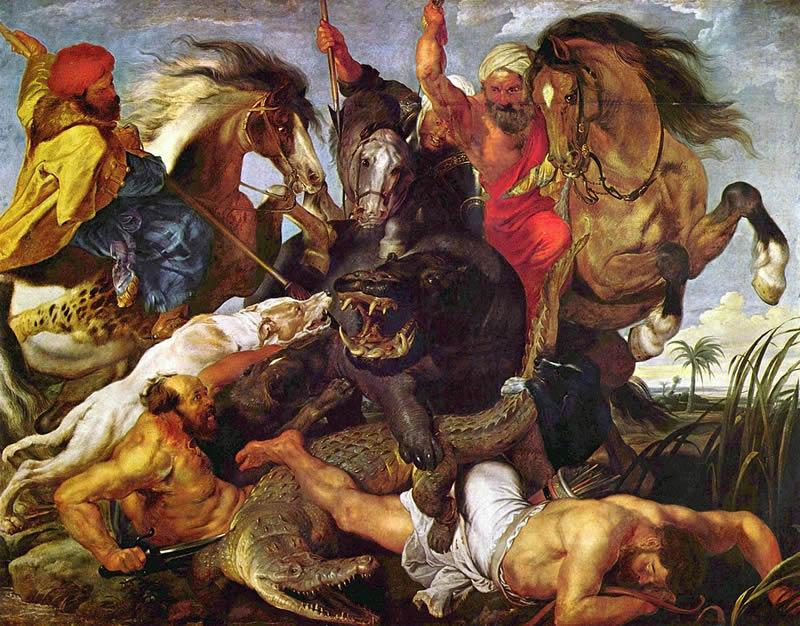 Rubens, La Chasse à l'hippopotame et au crocodile