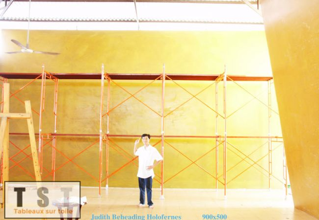 Reproductions de tableaux grande taille - La préparation de la toile