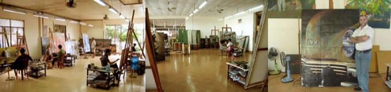 L'atelier, dans la banlieue nord de Saigon, Vietnam. Ouvert depuis 1996.