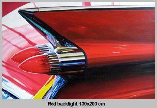 Feux arrières rouges 130 x 200 cm