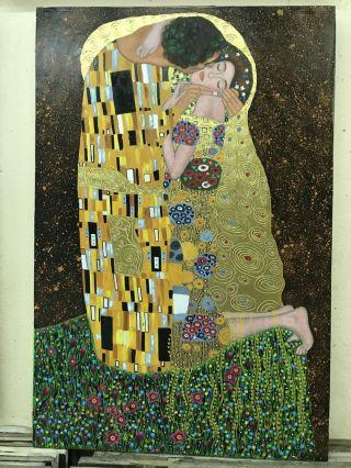 Gustav Klimt, Le baiser - 100 x 80 cm