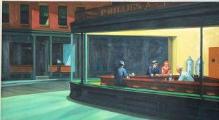 Hopper, Les oiseaux de nuit - 65 x 120 cm