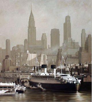 Le port de New York - 200 x 180 cm