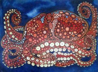 Maurice le poulpe - 120 x 160 cm