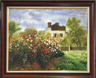 Monet, Coté jardin - 73 x 92 cm
