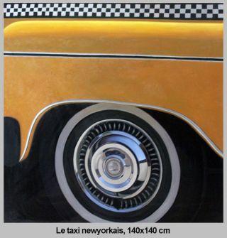 Taxi New-Yorkais - 140 x 140 cm