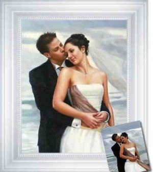 Portrait de mariage d'après photo