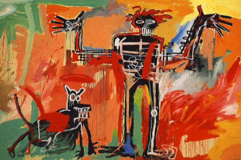 Basquiat, Boy and dog in a Johnnypump - 1982
