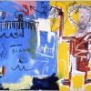 Basquiat, Untitled Yellow, red, blue - 1982