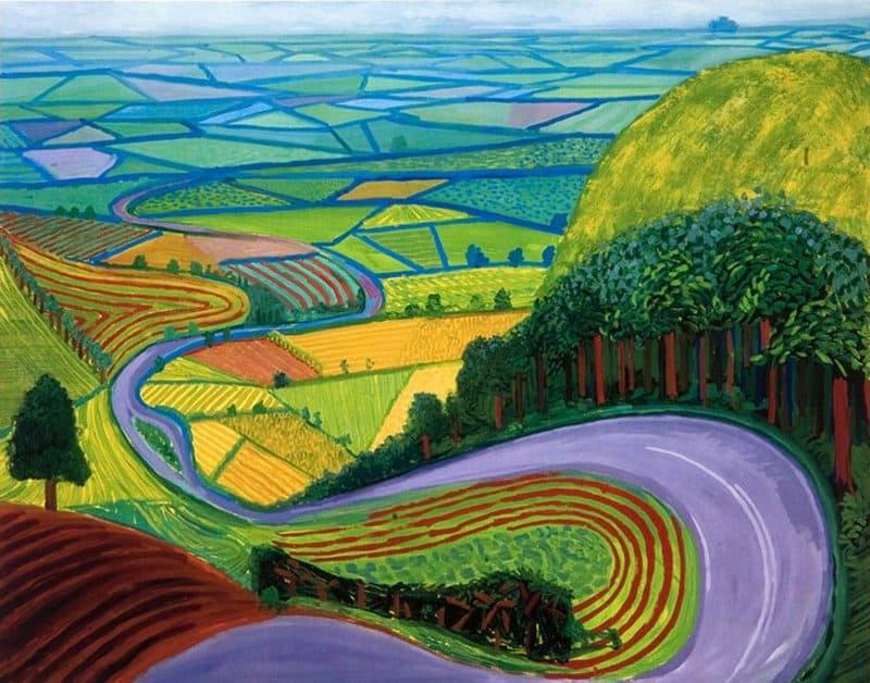 David Hockney, Colline de Garrowby - Garrowby Hill
