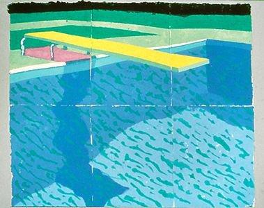 David Hockney, Plongeoir Avec Ombre