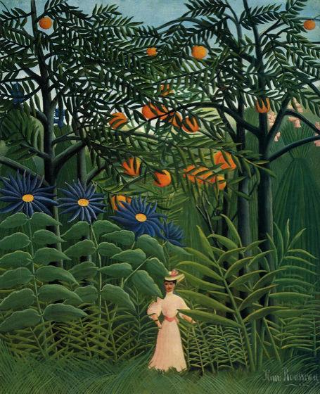 Douanier Rousseau, Femme marchant dans une forêt exotique