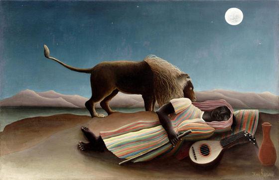 Douanier Rousseau, La Bohémienne endormie