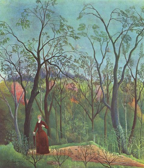 Douanier Rousseau, La marche dans la forêt
