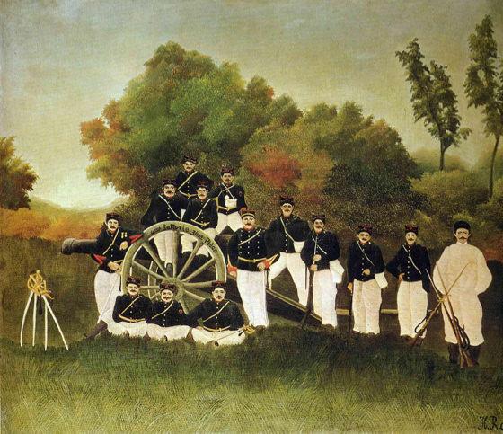Douanier Rousseau, Les artilleurs