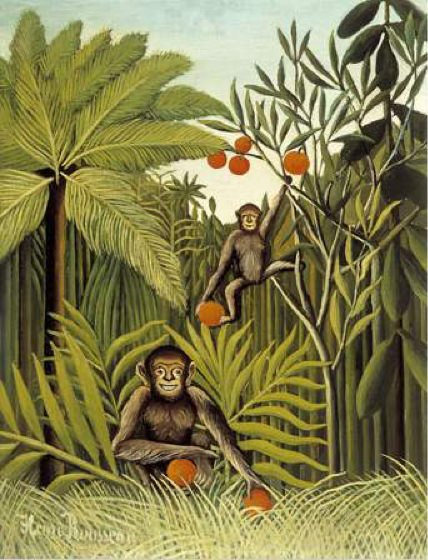 Reproduction Tableau De Douanier Rousseau Les Singes Dans La Jungle