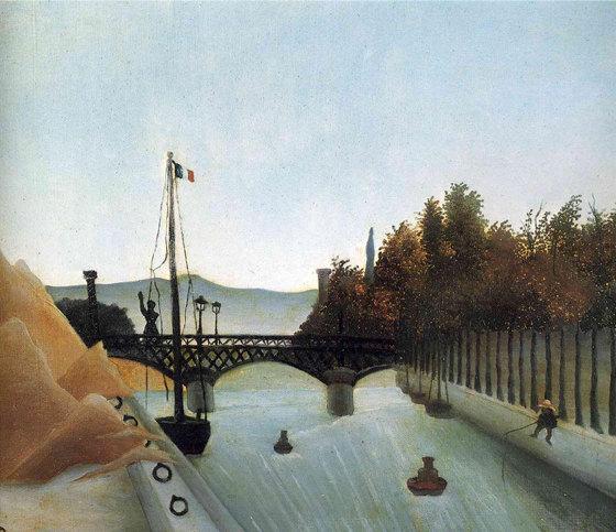 Douanier Rousseau, pont piéton à Passy