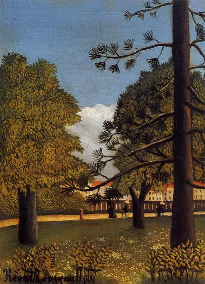 Douanier Rousseau, Vue du parc de Montsouris