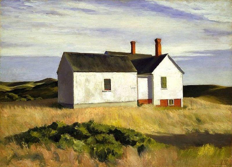 ¨ドワードホッパーによる絵画の複製 éイダーの家 1933年