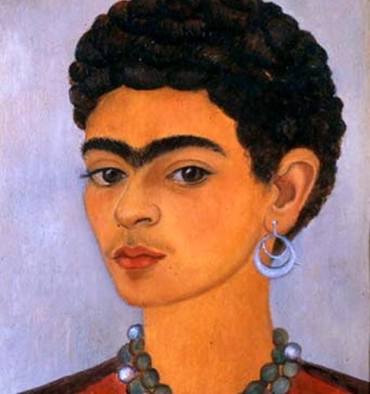 Frida Kahlo, Autoportrait Avec Des Cheveux Bouclés