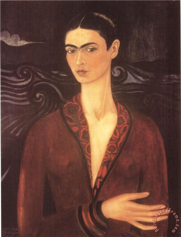 Frida Kahlo, Autoportrait Dans Une Robe De Velours