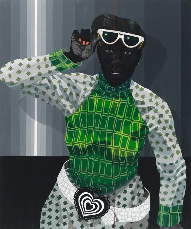 Kerry James Marshall, Untitled - Red Line