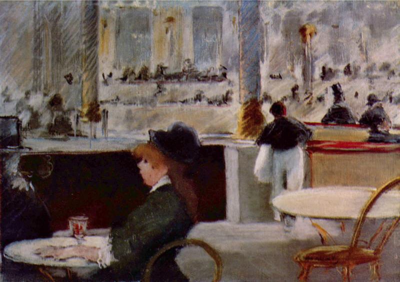 Reproduction Tableau De Manet Au Cafe
