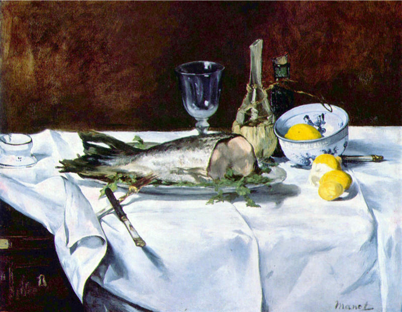 Manet, Nature Morte Avec Un Saumon