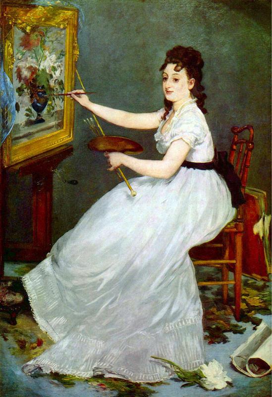 Manet, Portrait d'Eva Gonzales
