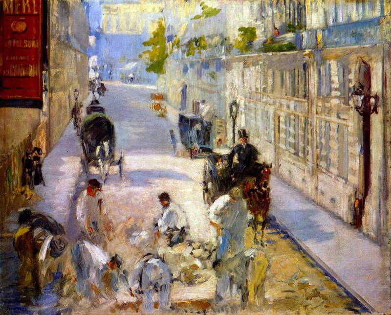 Manet, Travailleurs De Rue - Rue De Berne