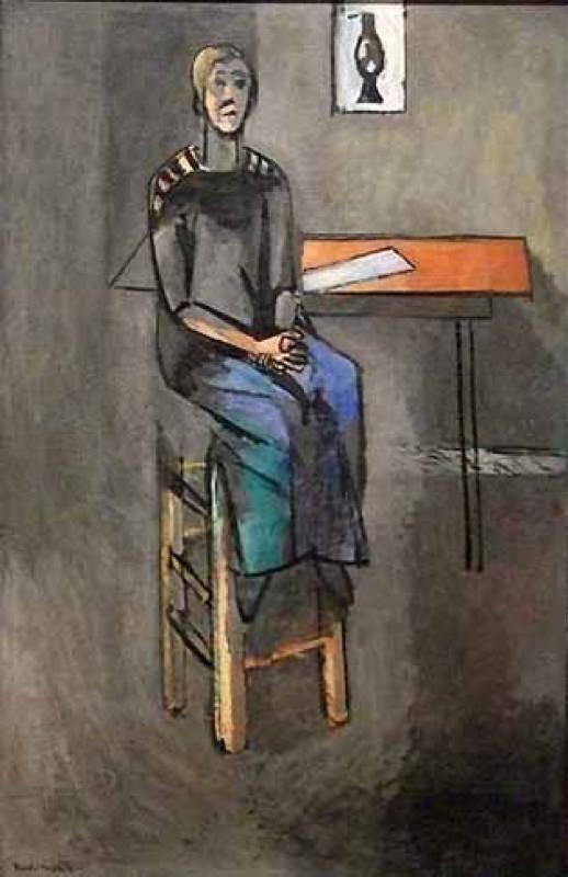 Matisse, Femme Sur Un Haut Tabouret