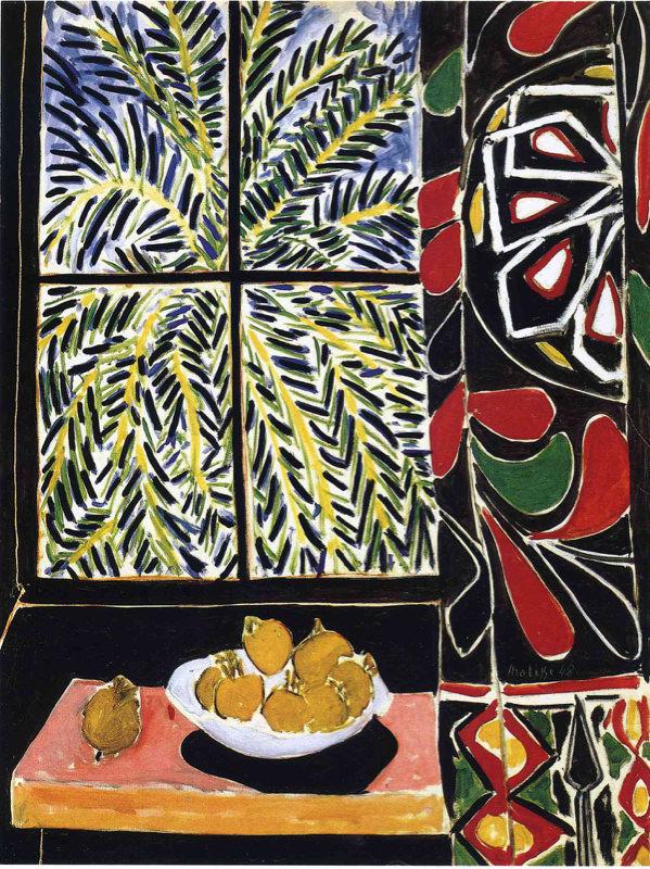 Matisse, Intérieur Avec Rideaux Egyptiens