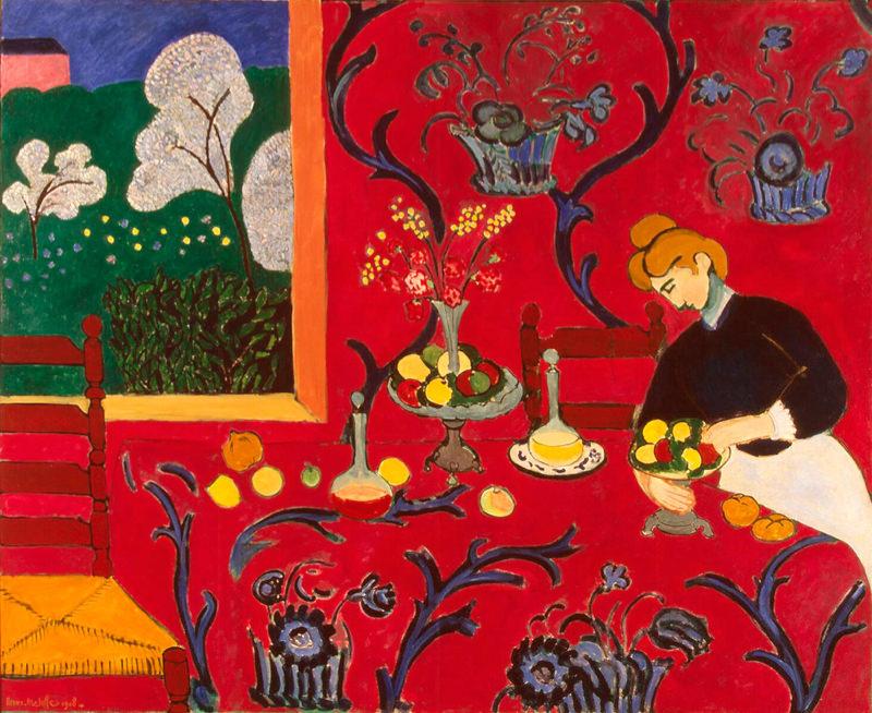 Matisse, Le Dessert - Harmonie En Rouge