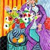 Matisse, Robe Violette Et Anémones