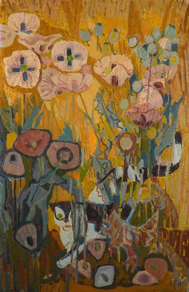 Reproduction Tableau De Otto Dix Cat In A Poppy Field