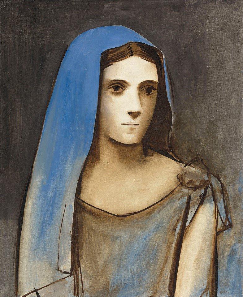 Reproduction Tableau De Pablo Picasso Buste De Femme Au Voile Bleu 1924