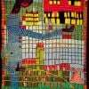 Hundertwasser, Pissing boy with skyscraper