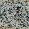 Pollock, Composition white black blue and red on white -1948