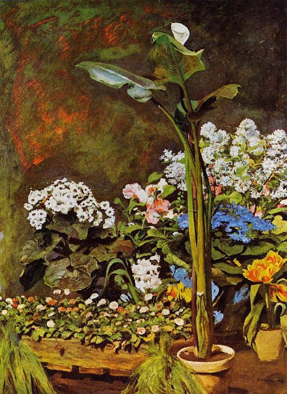 Renoir, Arums et plantes de serre