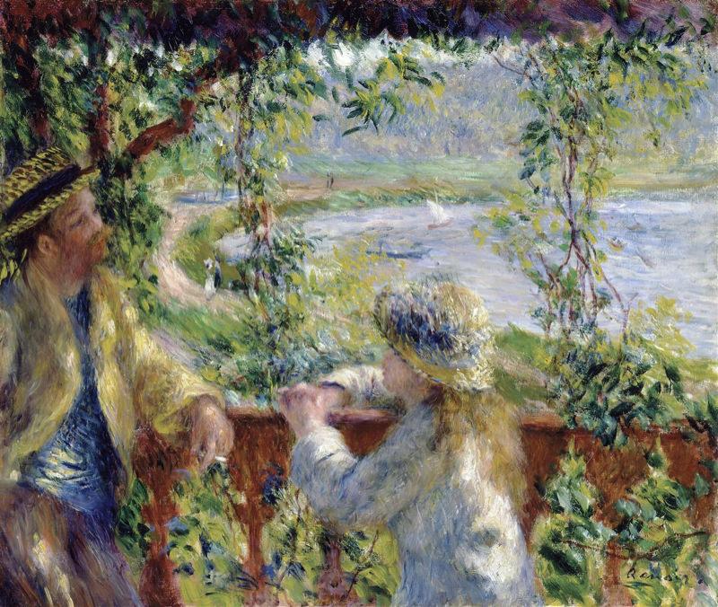 Peinture, peintres et peintures. - Page 4 Renoir_au_bord_de_l_eau_pre_s_du_lac