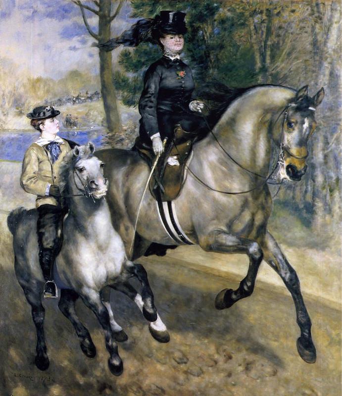 Renoir, Chevauchée dans le bois de Boulogne