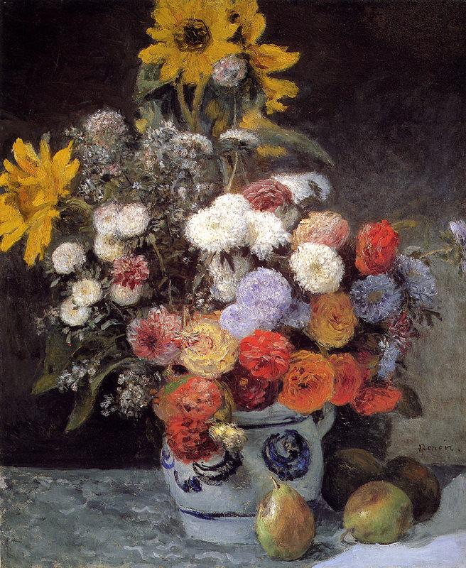Renoir, Composition florale dans un pot en terre