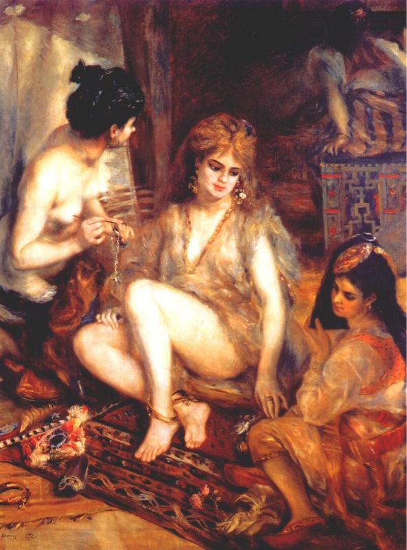 Renoir, Le harem - Parisiennes déguisée en Algériennes