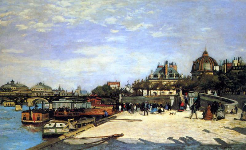 Renoir, Le pont des Arts et l'institut de France