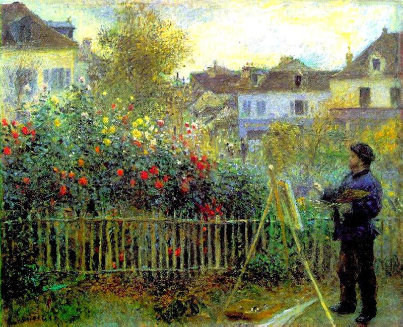 Renoir, Monet peignant dans son jardin à Argenteuil
