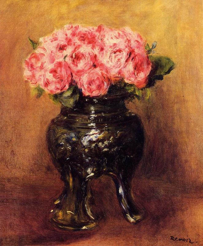 Renoir, Roses dans un vase Chinois